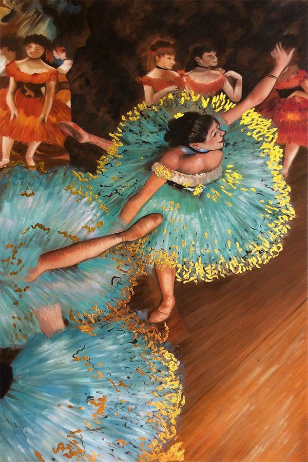 The Green Dancer - Edgar Degas - Nova Paintings