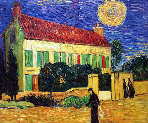 White House at Night - Vincent Van Gogh - Nova Paintings