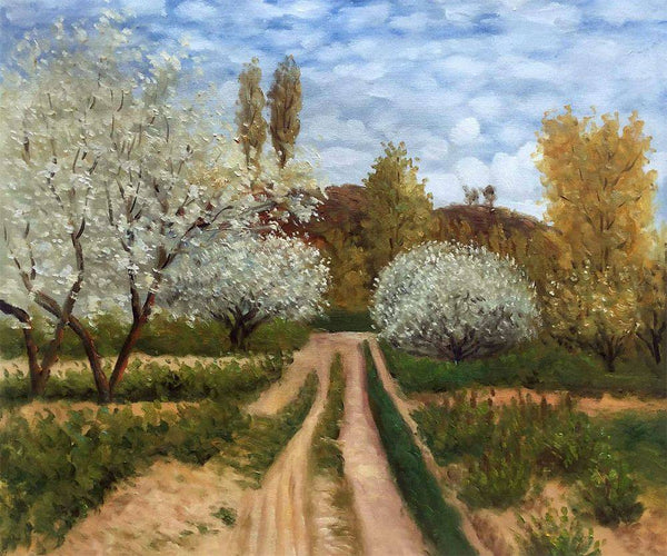 Trees in Bloom - Claude Monet