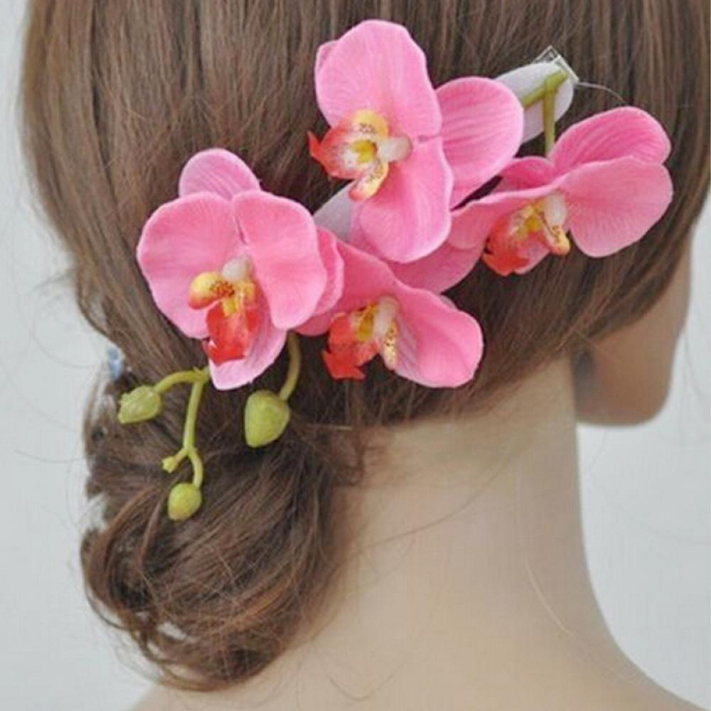Hot New 2018 Orchid Flower Hair Clips Poshify