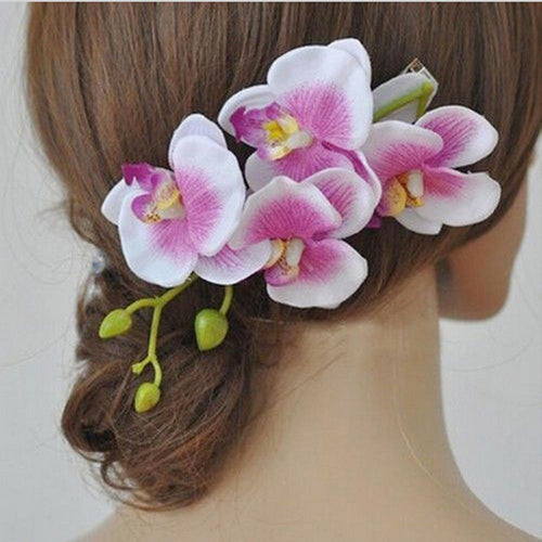Hot New 2018 Orchid Flower Hair Clips - Poshify