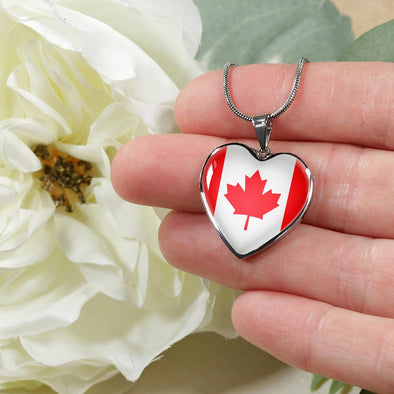 lottierocks:Canada Flag Heart Pendant Necklace