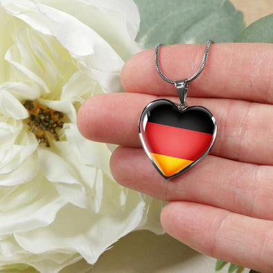 Germany Flag Heart Pendant Necklace - lottierocks