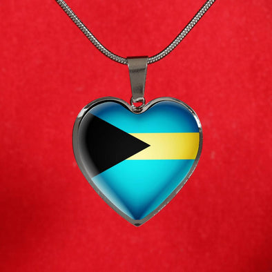 lottierocks:Bahamas Flag Heart Pendant Necklace