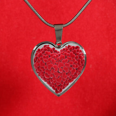 Red Hearts Love Heart Pendant Necklace