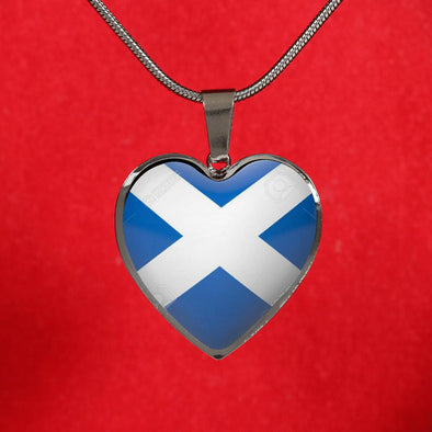 scotland flag 1000x1000 Heart Pendant Necklace