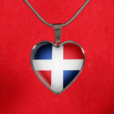 lottierocks:Dominican Republic Heart Pendant Necklace