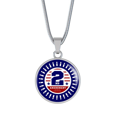2nd Amendment Circle Pendant Necklace