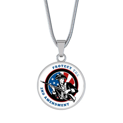 2nd Amendment Patriot Circle Pendant Necklace