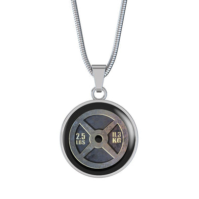 Weight Plate 2.5lbs Circle Pendant Necklace