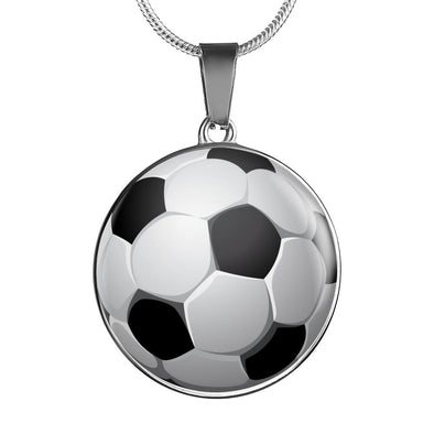 SoccerBall - FootBall 3D Circle Pendant Necklace - lottierocks