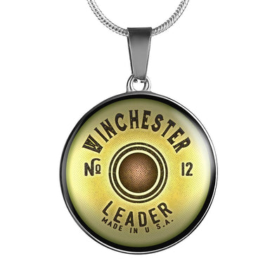 Winchester Shotgun Cartridge Circle Pendant Necklace - lottierocks