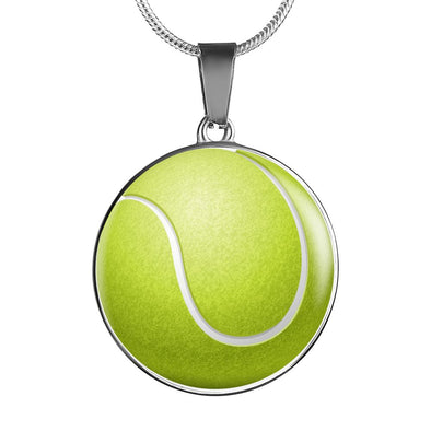 Tennis Ball 3D Circle Pendant Necklace - lottierocks