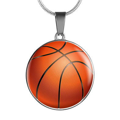 lottierocks:BasketBall 3D Circle Pendant Necklace