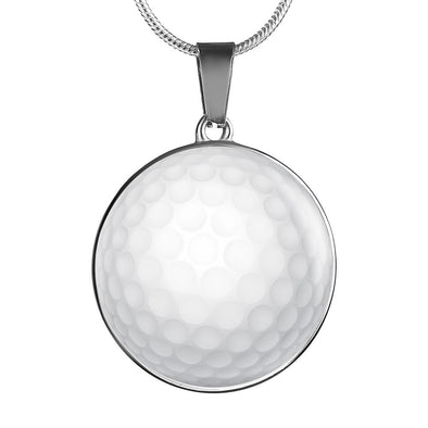GolfBall 3D Circle Pendant Necklace - lottierocks