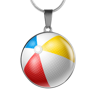 lottierocks:BeachBall 3D Circle Pendant Necklace