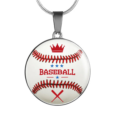 lottierocks:BaseBall 3D Circle Pendant Necklace