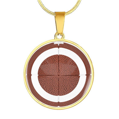 lottierocks:American FootBall 3D Circle Pendant Necklace
