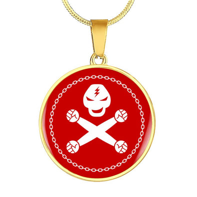 Train Hard Circle Pendant Necklace - lottierocks