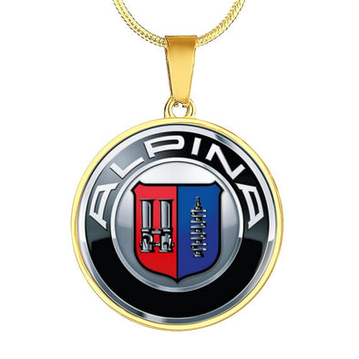 Alpina Logo Circle Pendant Necklace - lottierocks