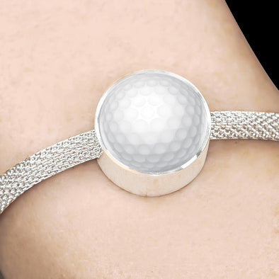 GolfBall 3D Circle Charm Surgical Steel Bracelet - lottierocks