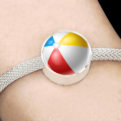 BeachBall 3D Circle Charm Surgical Steel Bracelet - lottierocks