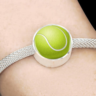 TennisBall 3D Circle Charm Surgical Steel Bracelet - lottierocks