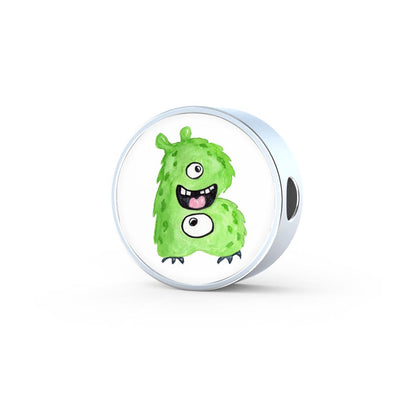 lottierocks:B - Monster HandPainted Letter Circle Charm