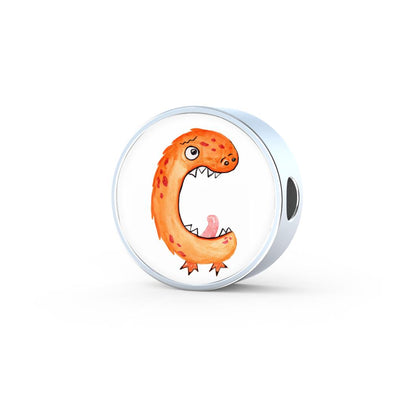 lottierocks:C - Monster HandPainted Letter Circle Charm