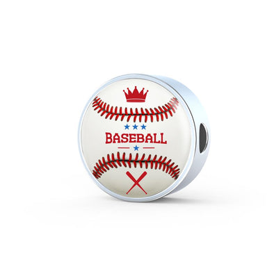 BaseBall 3D Circle Charm - lottierocks