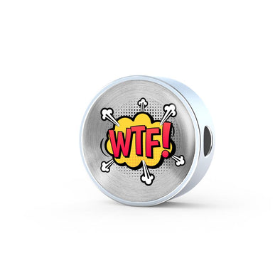 Comic Explosion WOW! Speech Bubble Circle Charm