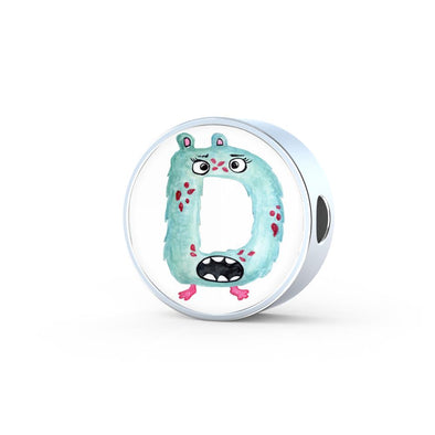 lottierocks:D - Monster HandPainted Letter Circle Charm