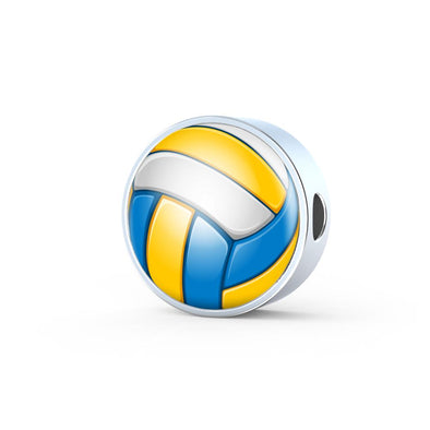 VolleyBall 3D Circle Charm - lottierocks