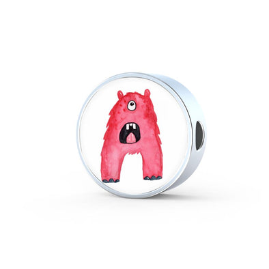 lottierocks:A - Monster HandPainted Letter Circle Charm