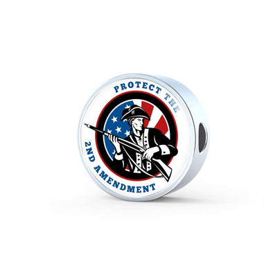 2nd Amendment Patriot Circle Charm
