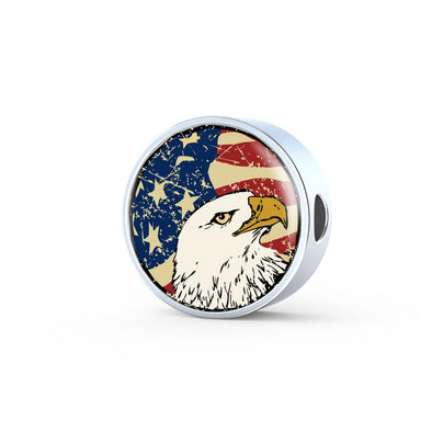 lottierocks:American Eagle USA Flag Circle Charm