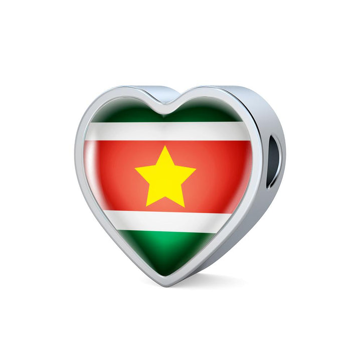 Suriname Flag Heart Charm - lottierocks