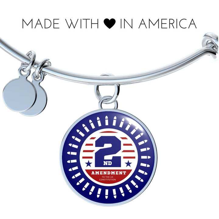 2nd Amendment Circle Pendant Bangle