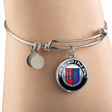 Alpina Logo Circle Pendant Bangle - lottierocks