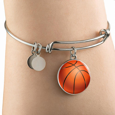 lottierocks:BasketBall 3D Circle Pendant Bangle