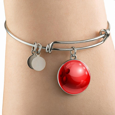 lottierocks:BowlingBall 3D Circle Pendant Bangle