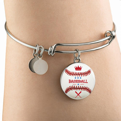 lottierocks:BaseBall 3D Circle Pendant Bangle