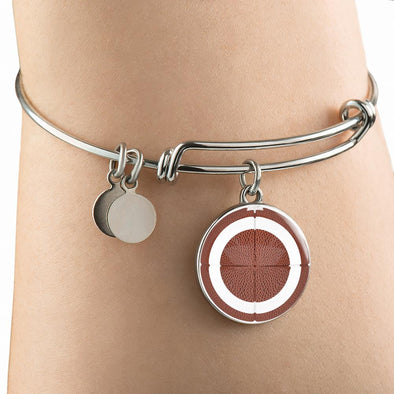 lottierocks:American FootBall 3D Circle Pendant Bangle