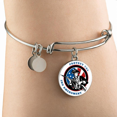 2nd Amendment Patriot Circle Pendant Bangle