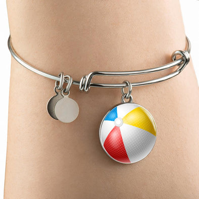 lottierocks:BeachBall 3D Circle Pendant Bangle