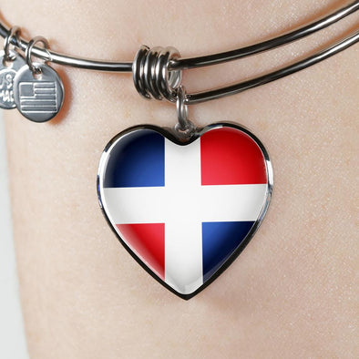 lottierocks:Dominican Republic Heart Pendant Bangle
