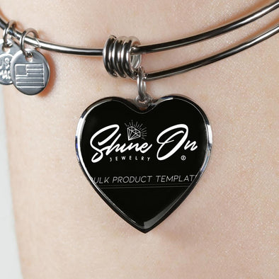 Heart Pendant Bangle - lottierocks