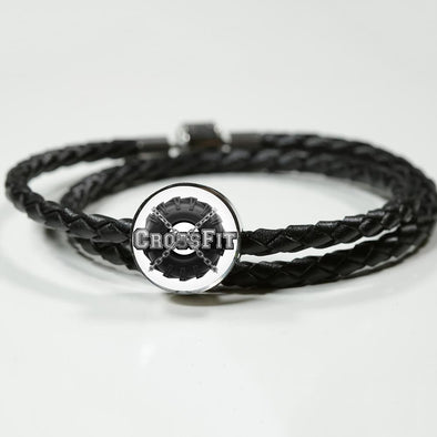 lottierocks:Crossfit Circle Charm Leather Bracelet