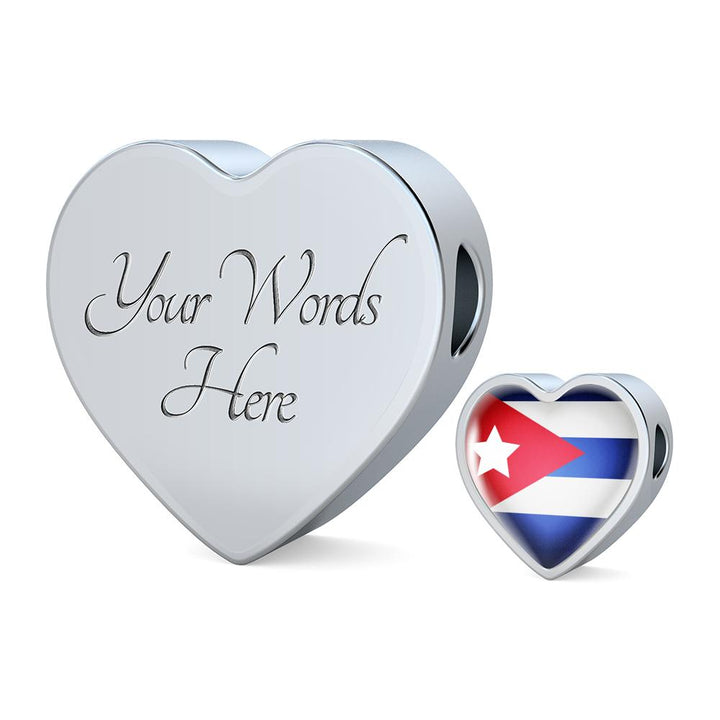 lottierocks:Cuba Flag Heart Charm