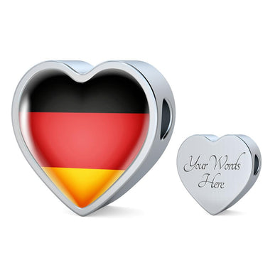 Germany Flag Heart Charm - lottierocks